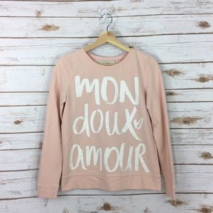 [LOFT] Mon Doux Amour Pink Sweater Size Small